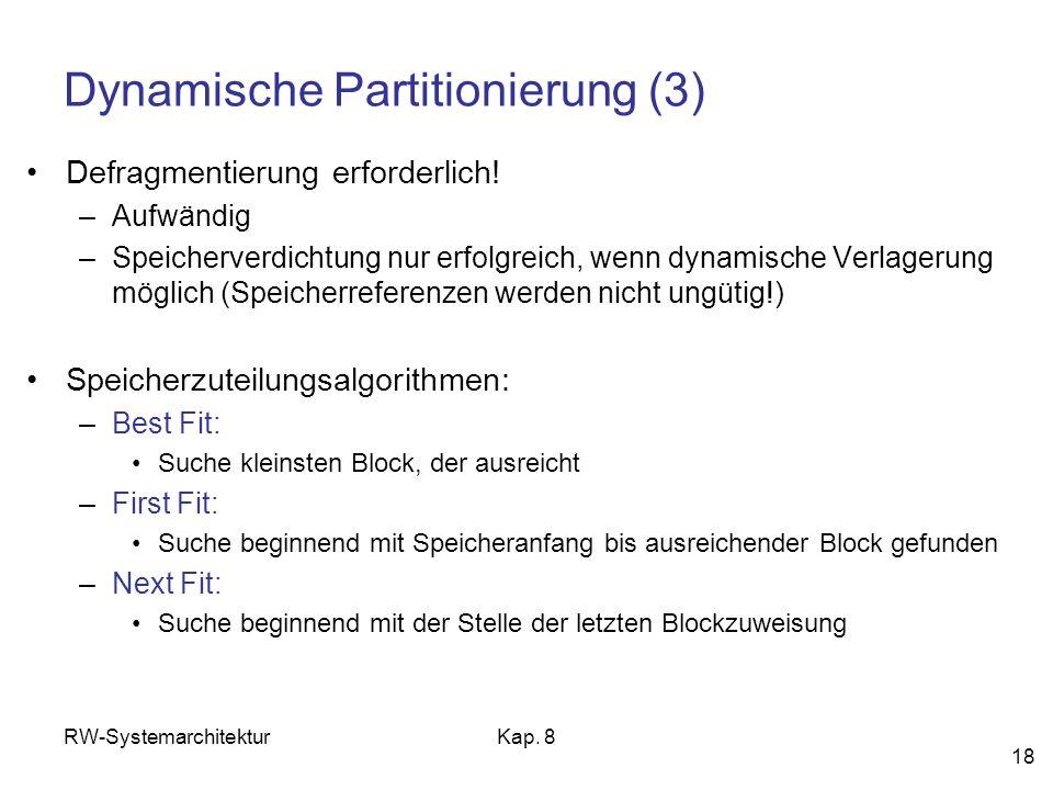 Dynamische Partitionierung (3)