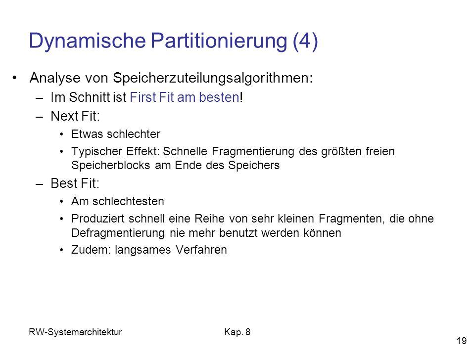 Dynamische Partitionierung (4)