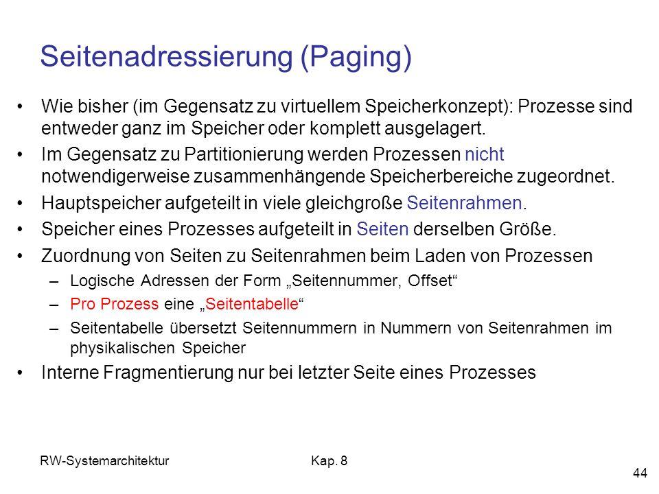 Seitenadressierung (Paging)