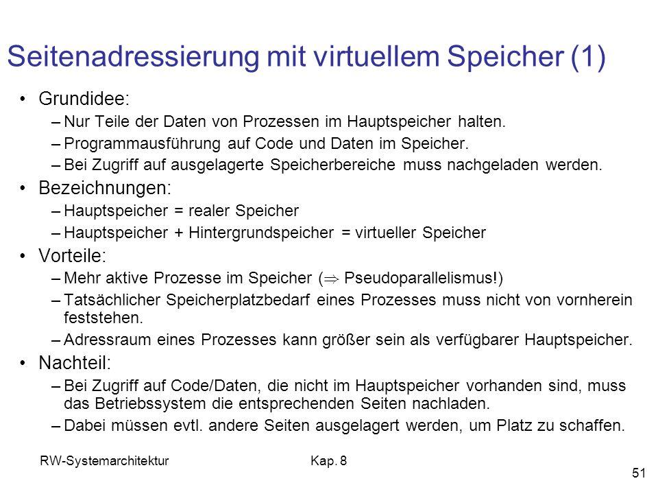 Seitenadressierung mit virtuellem Speicher (1)