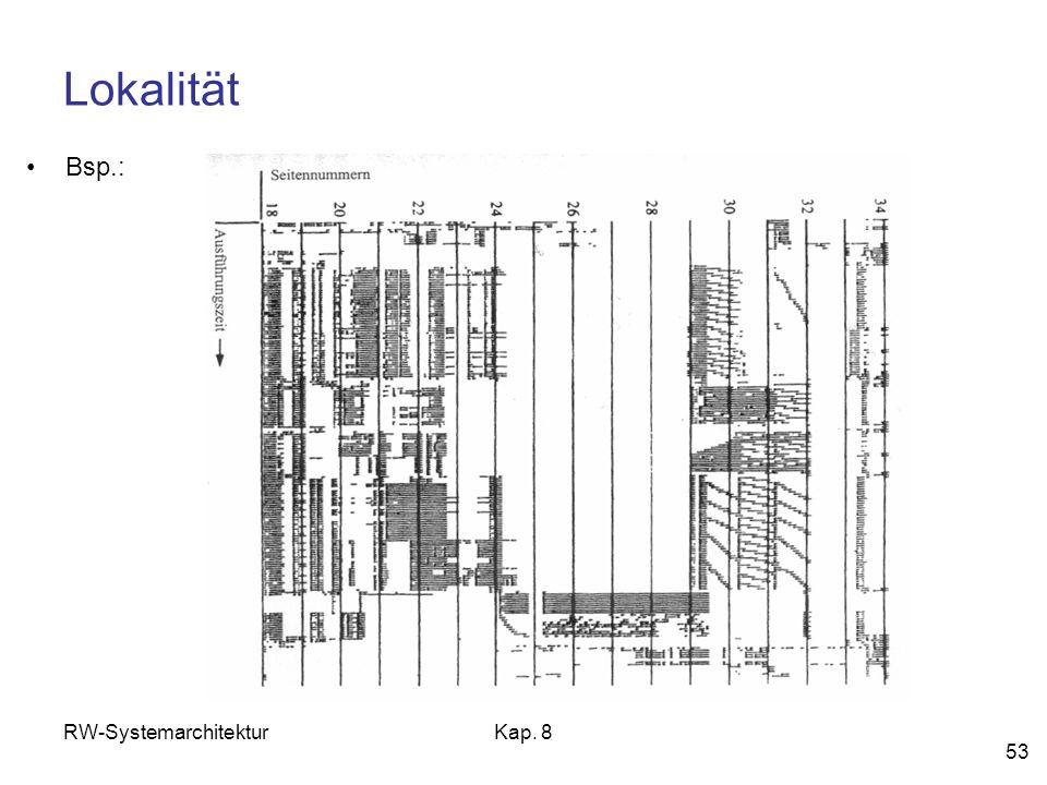 Lokalität Bsp.: RW-Systemarchitektur Kap. 8