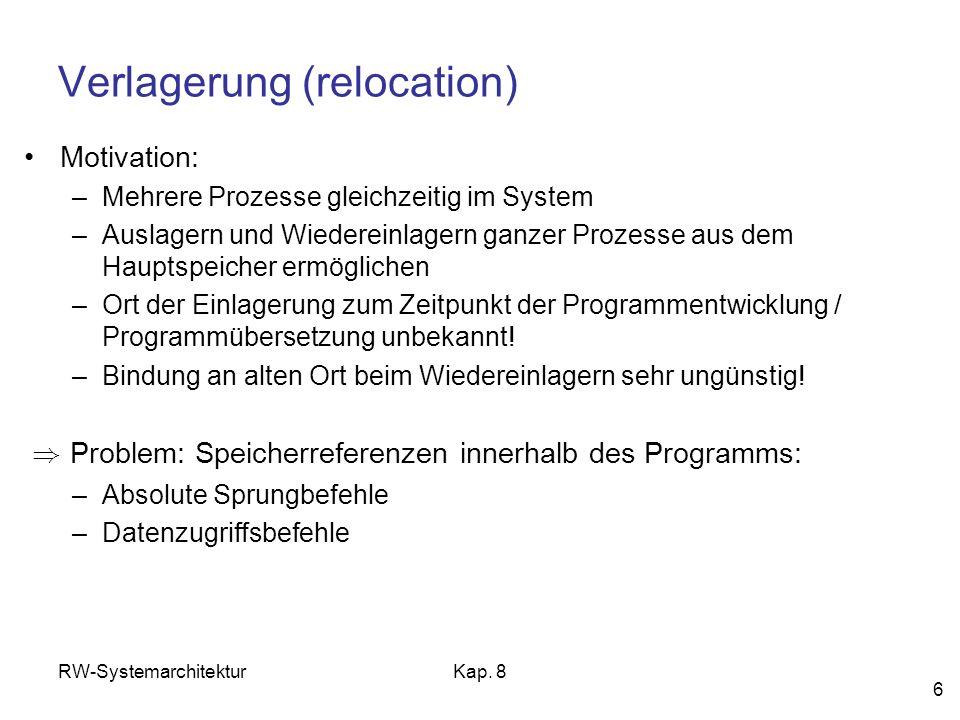 Verlagerung (relocation)