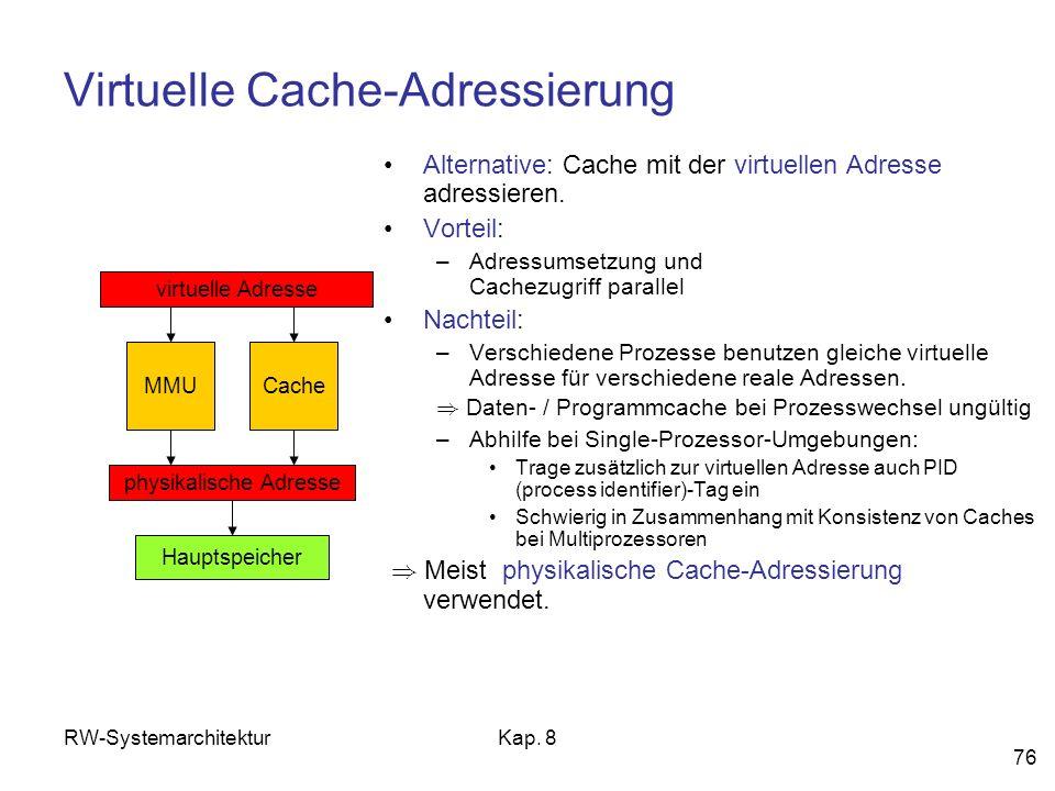 Virtuelle Cache-Adressierung