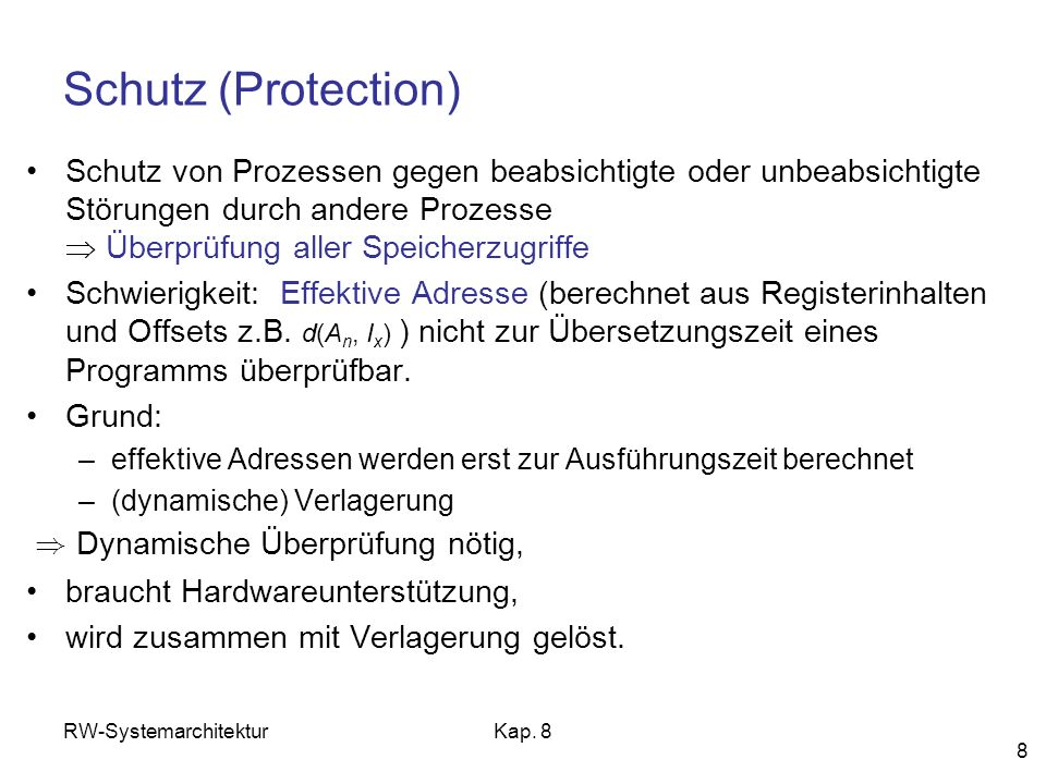 Schutz (Protection)