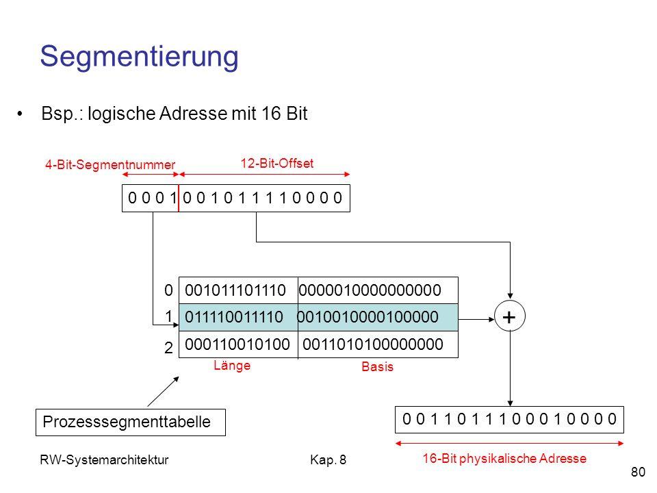 16-Bit physikalische Adresse