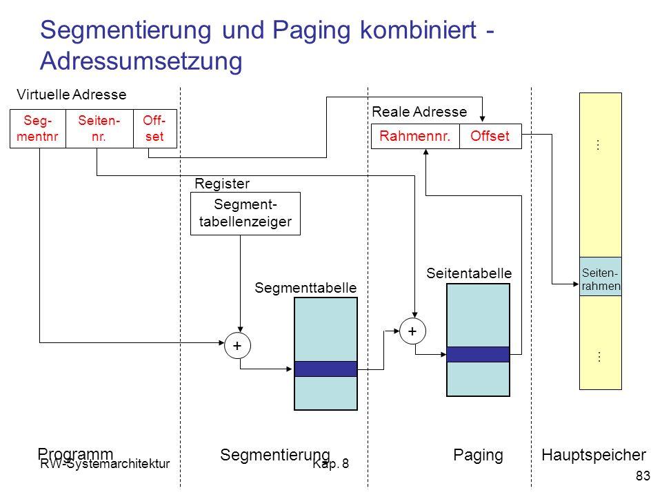 Segmentierung und Paging kombiniert - Adressumsetzung