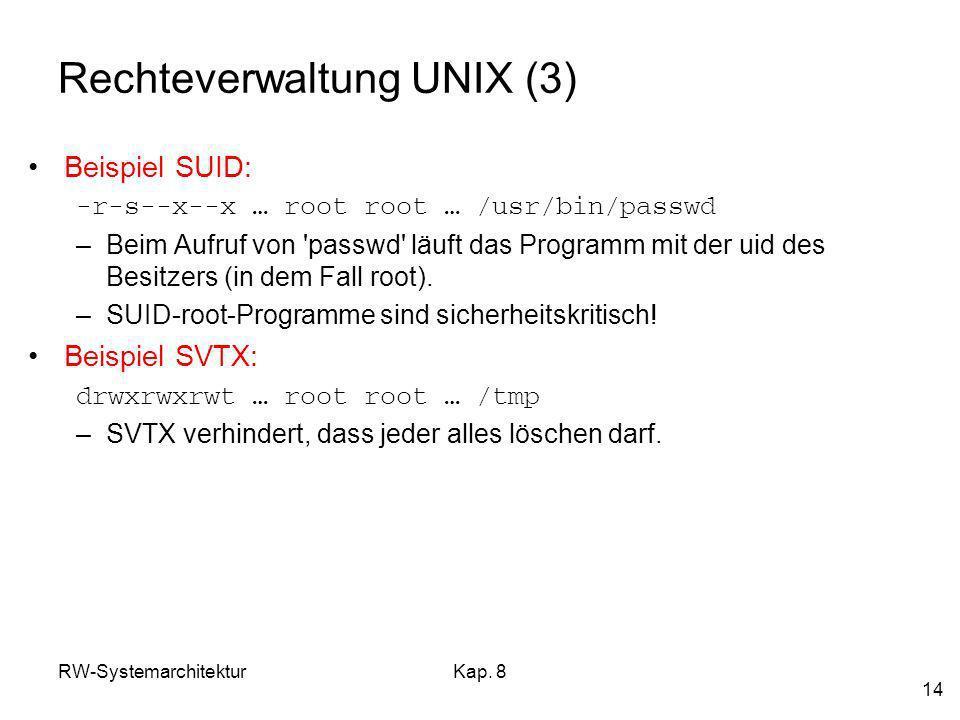 Rechteverwaltung UNIX (3)