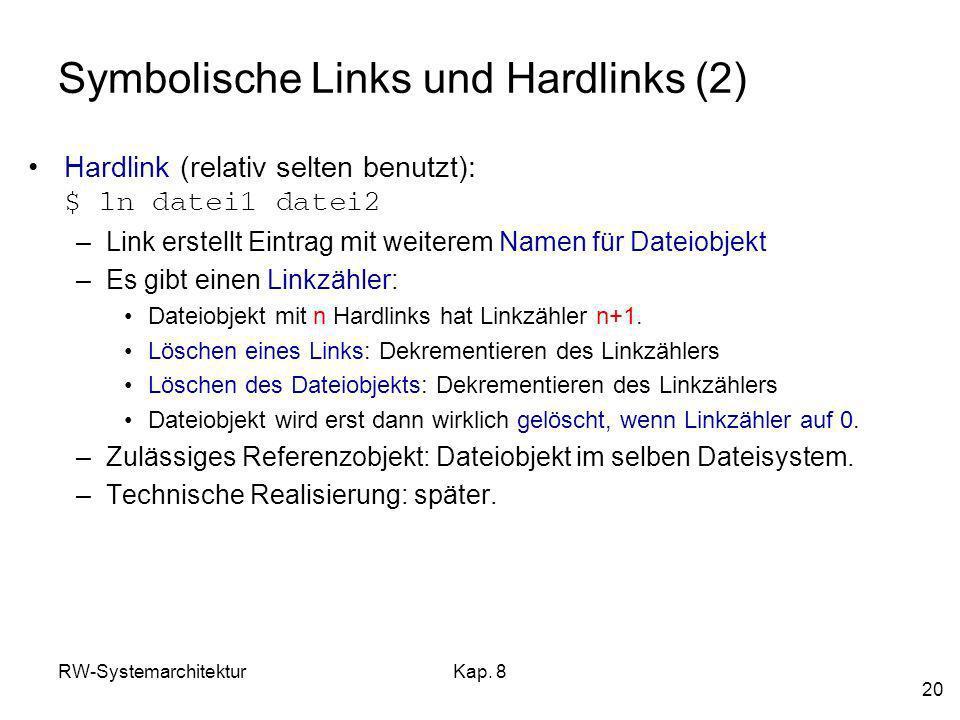 Symbolische Links und Hardlinks (2)