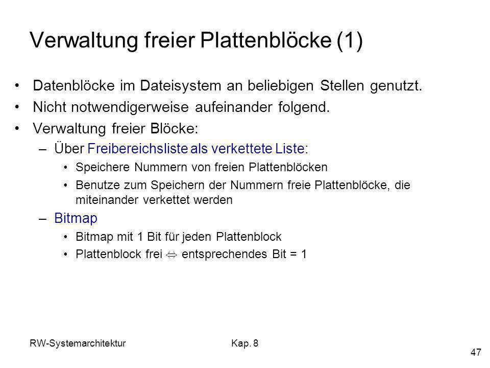 Verwaltung freier Plattenblöcke (1)
