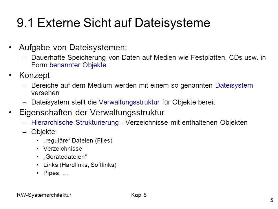 9.1 Externe Sicht auf Dateisysteme