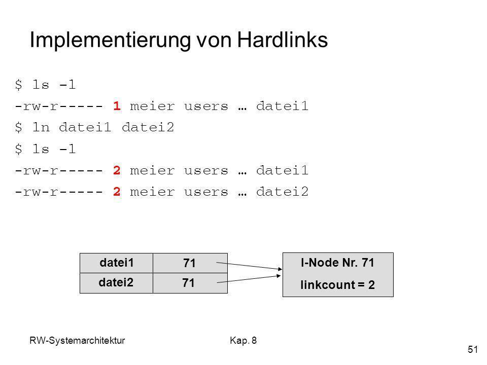 Implementierung von Hardlinks