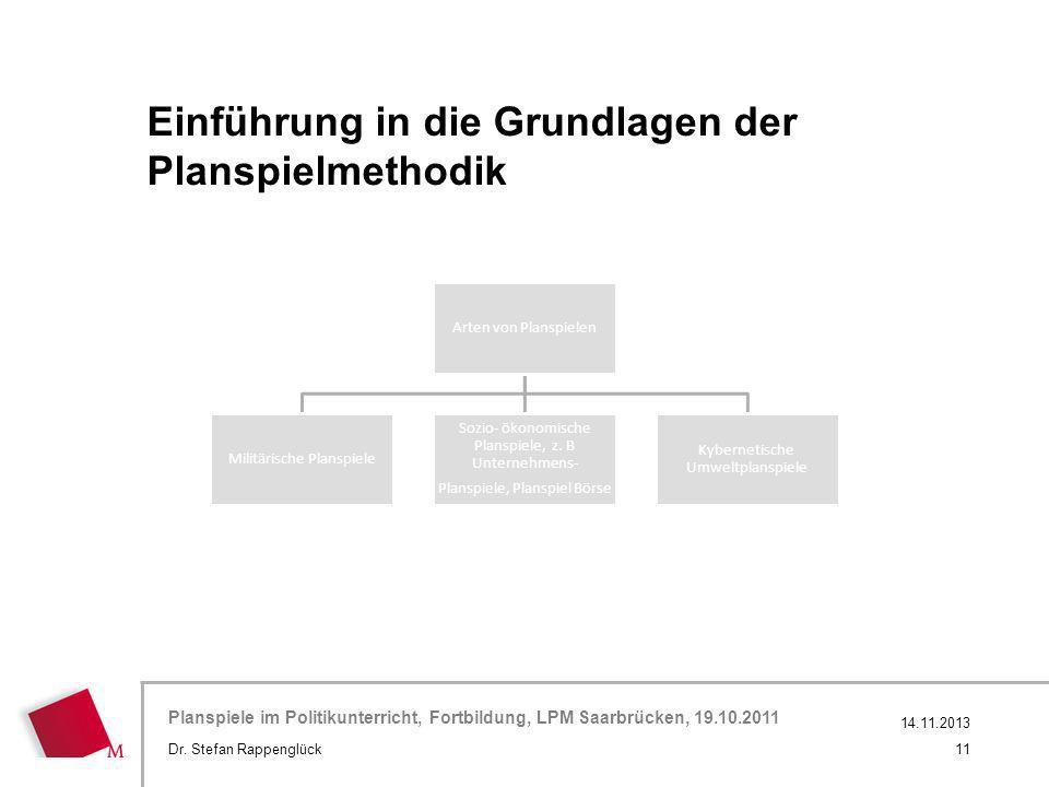 Einführung in die Grundlagen der Planspielmethodik