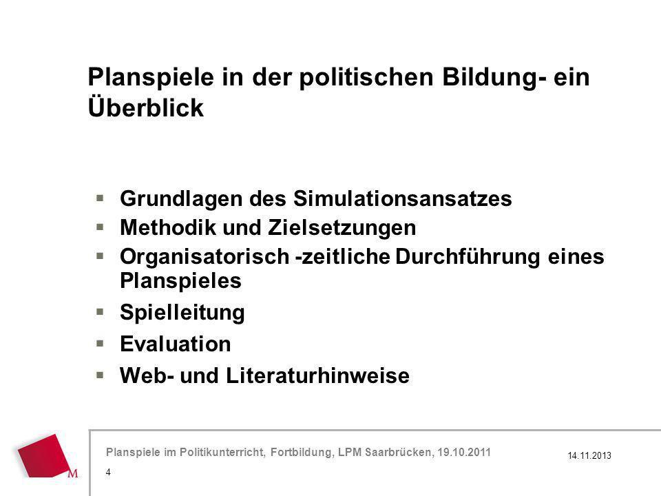 Planspiele in der politischen Bildung- ein Überblick