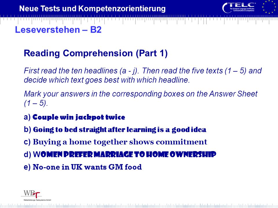Reading Comprehension (Part 1)