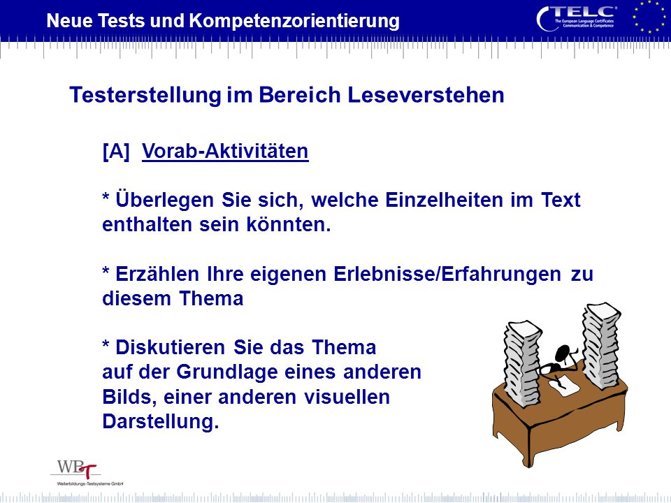Testerstellung im Bereich Leseverstehen