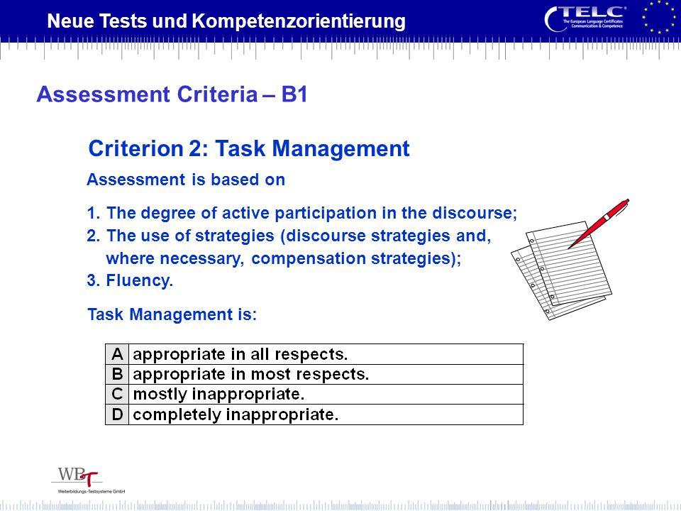 Assessment Criteria – B1
