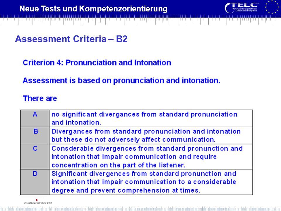 Assessment Criteria – B2