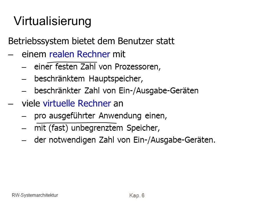 Virtualisierung Betriebssystem bietet dem Benutzer statt