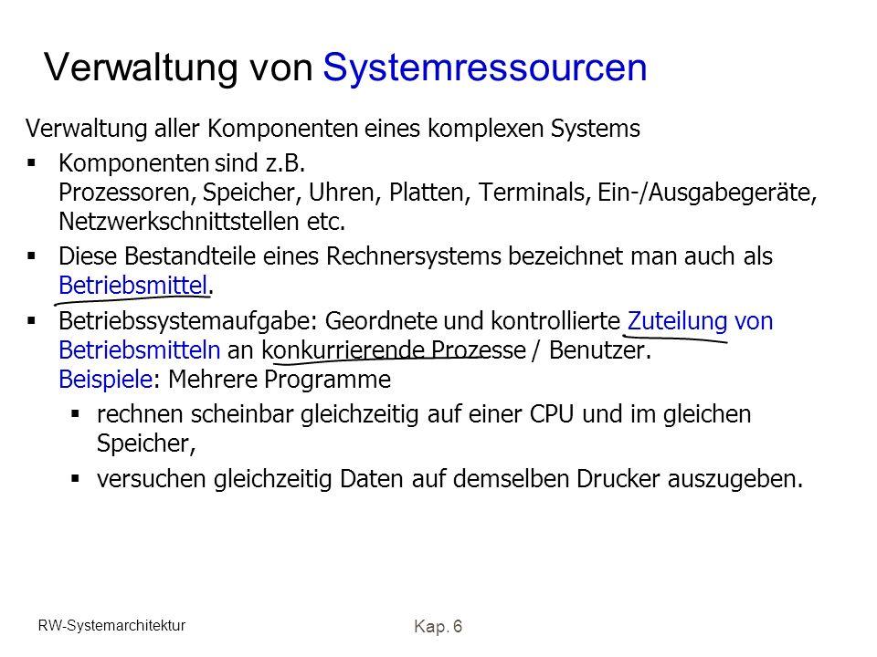 Verwaltung von Systemressourcen