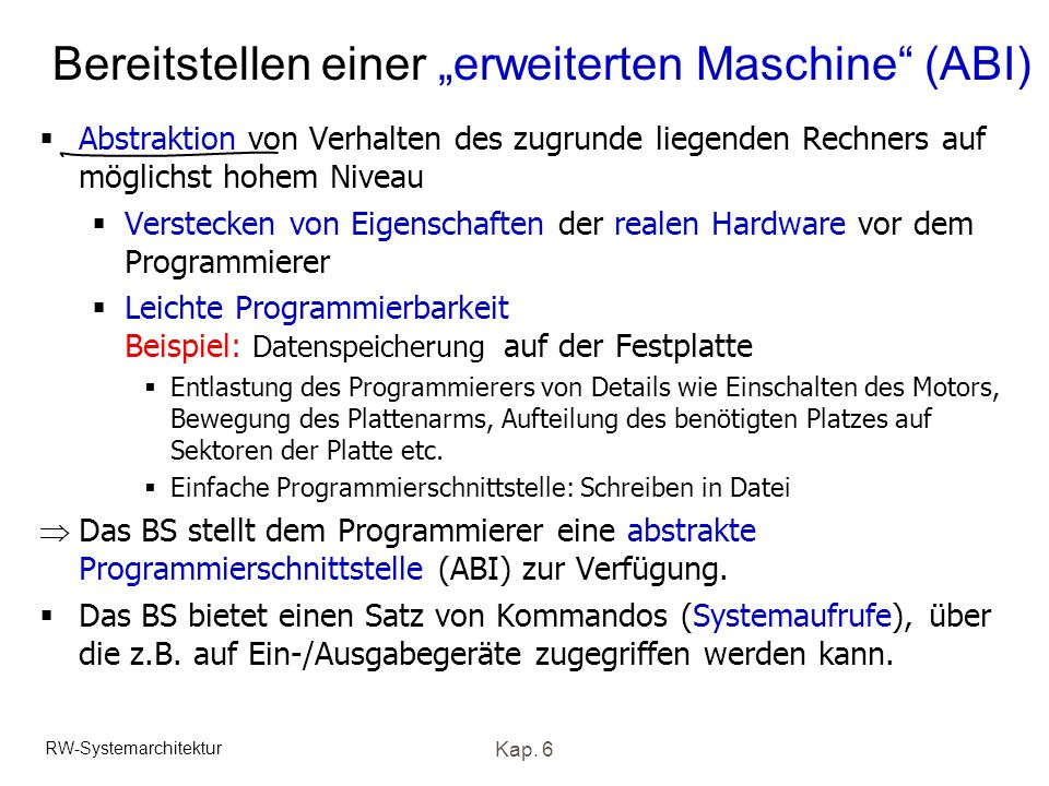 """Bereitstellen einer """"erweiterten Maschine (ABI)"""
