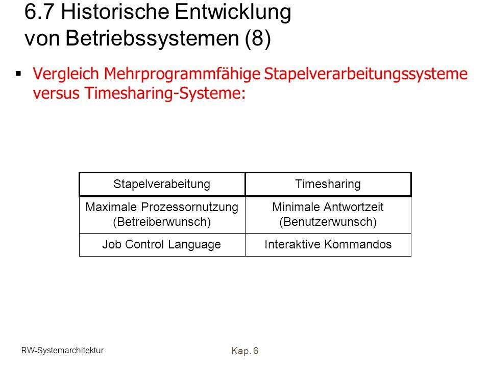 6.7 Historische Entwicklung von Betriebssystemen (8)