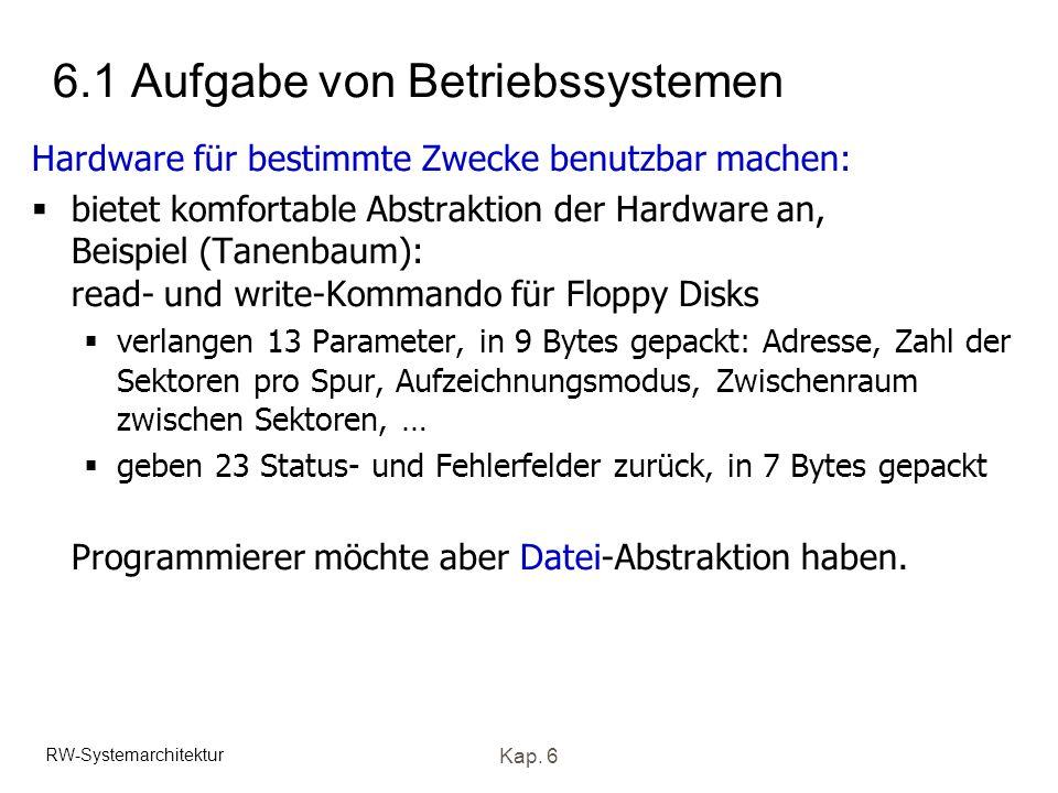 6.1 Aufgabe von Betriebssystemen
