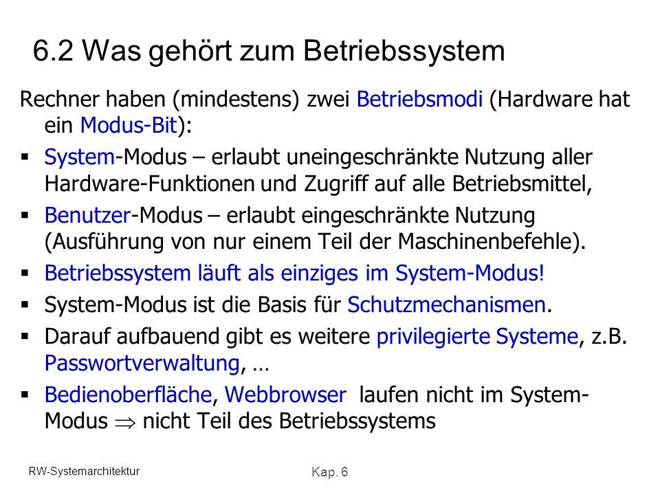 6.2 Was gehört zum Betriebssystem
