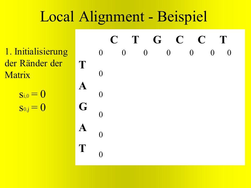 Local Alignment - Beispiel