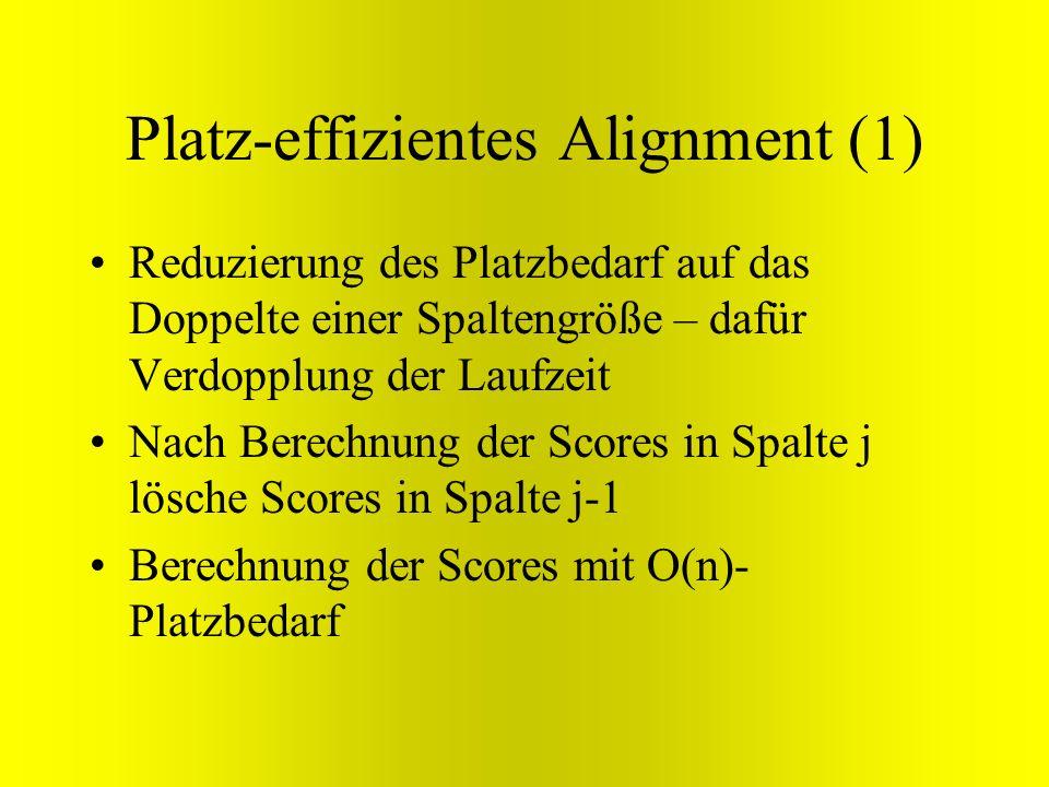 Platz-effizientes Alignment (1)