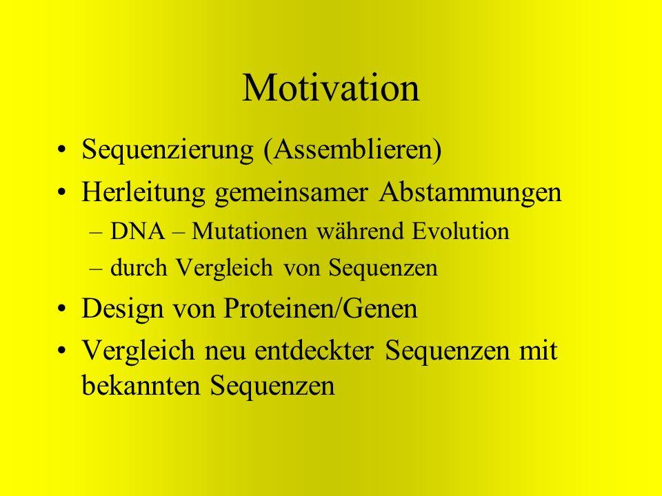 Motivation Sequenzierung (Assemblieren)