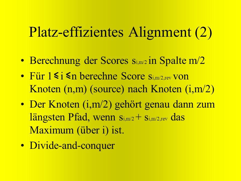 Platz-effizientes Alignment (2)