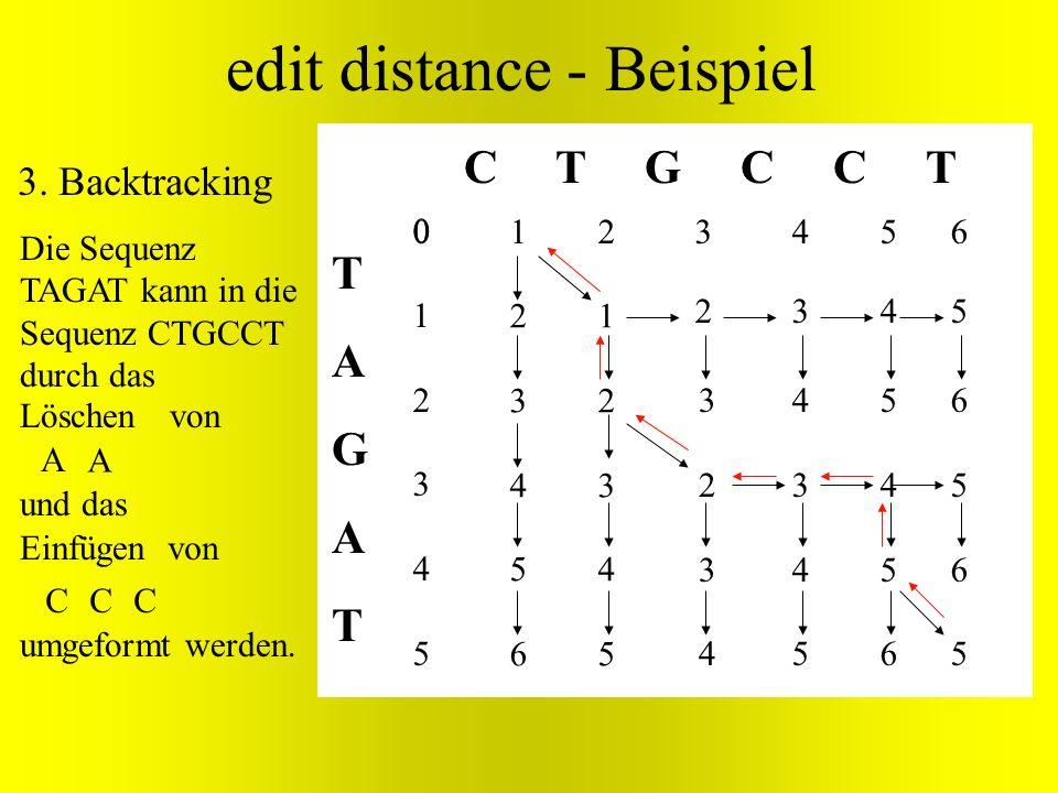 edit distance - Beispiel