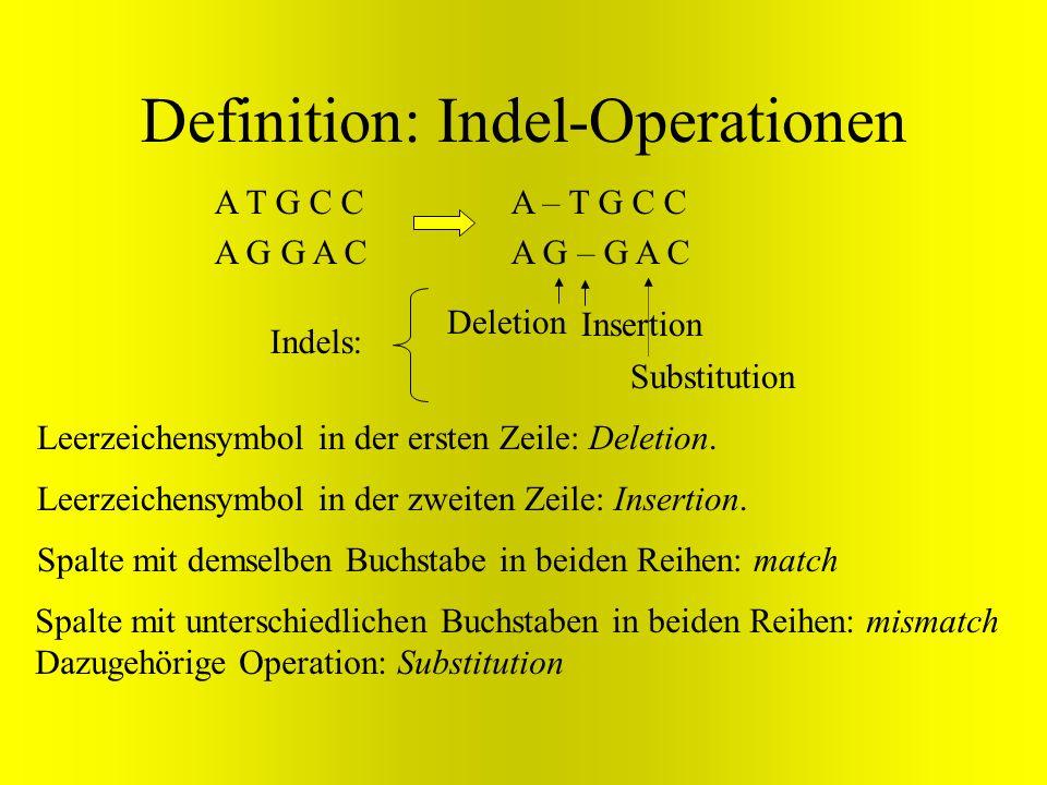 Definition: Indel-Operationen