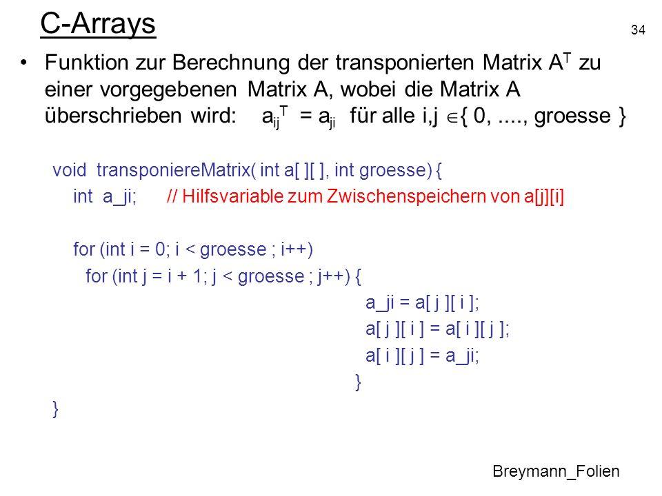 C-Arrays