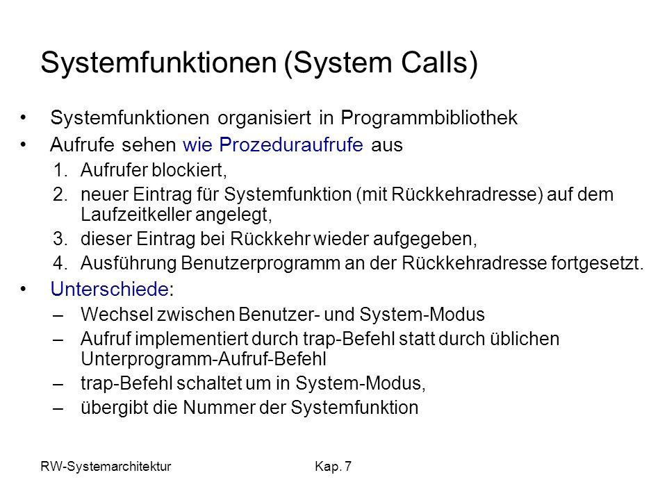 Systemfunktionen (System Calls)