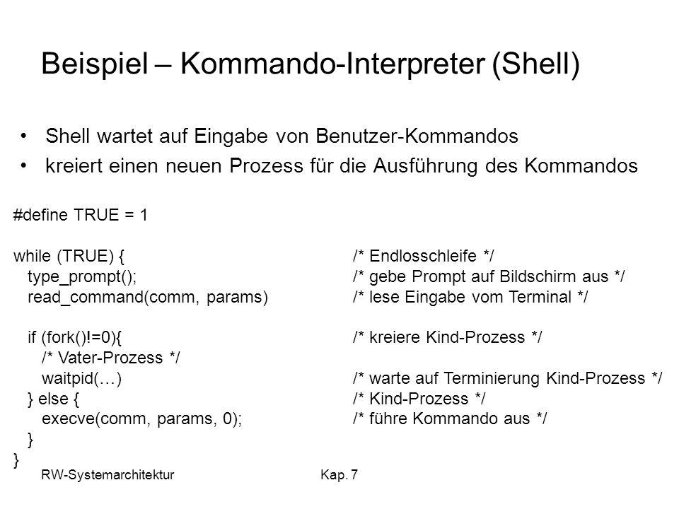 Beispiel – Kommando-Interpreter (Shell)
