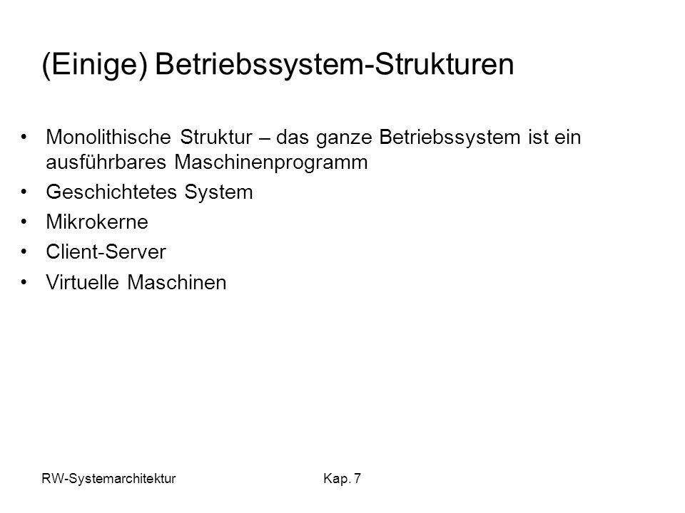 (Einige) Betriebssystem-Strukturen
