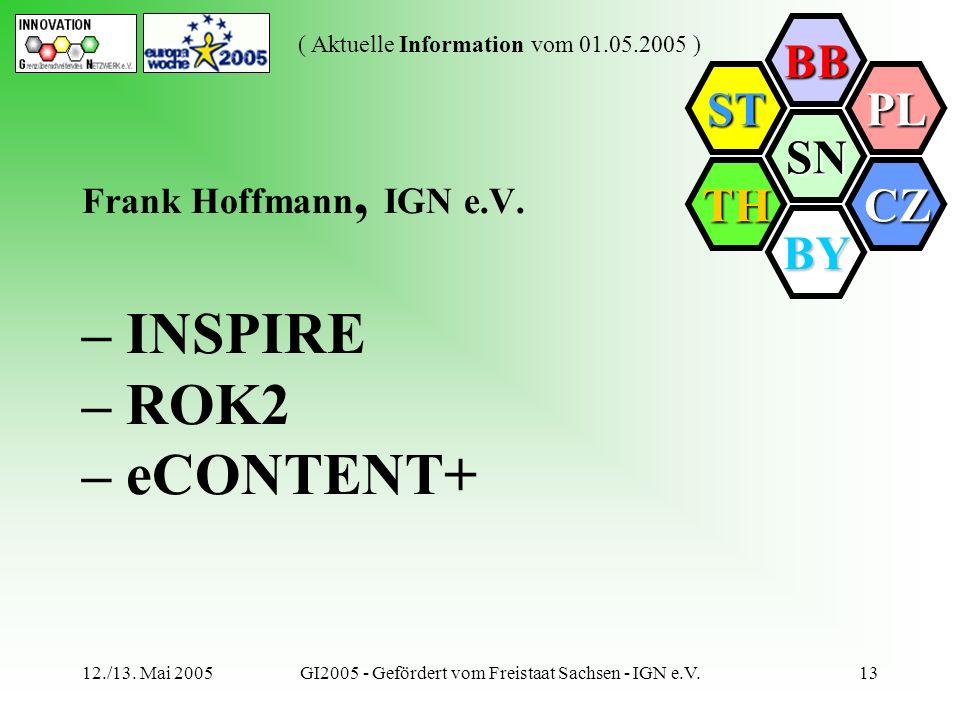 Frank Hoffmann, IGN e.V. – INSPIRE – ROK2 – eCONTENT+