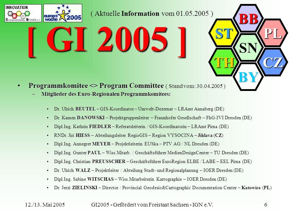 GI2005 - Gefördert vom Freistaat Sachsen - IGN e.V.