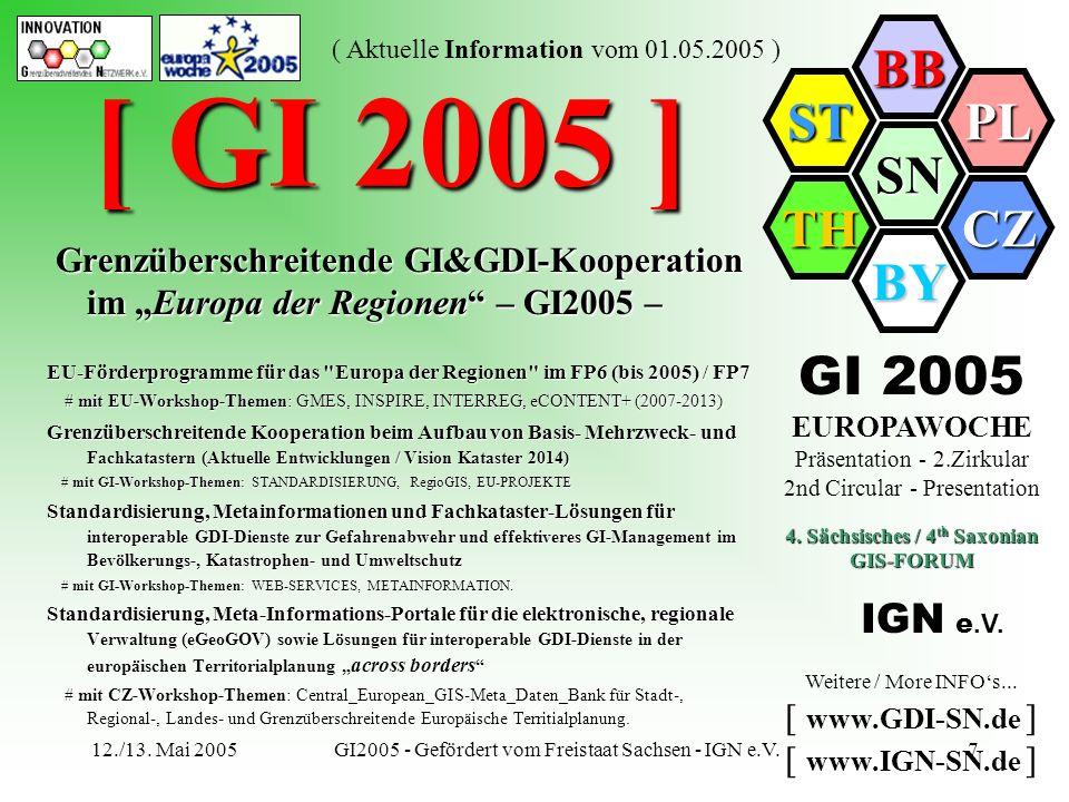 IGN e.V. - 4. Sächsisches GIS-FORUM - GI2005 - Symposium