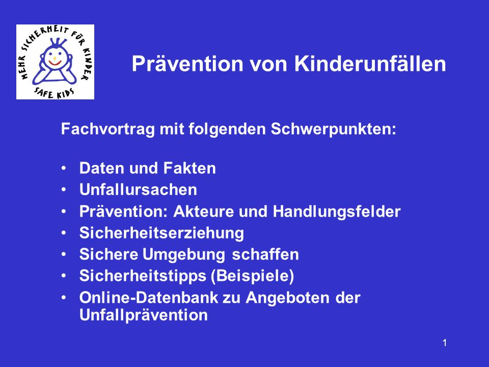 Prävention von Kinderunfällen