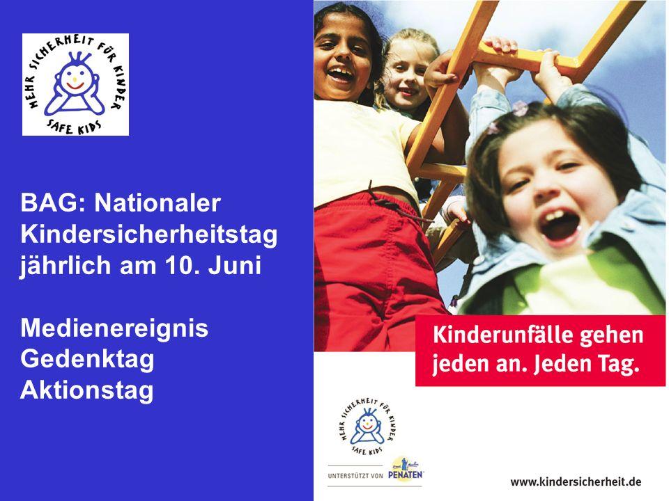 BAG: Nationaler Kindersicherheitstag jährlich am 10