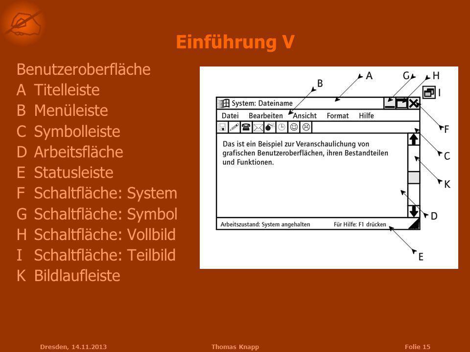 Einführung V Benutzeroberfläche A Titelleiste B Menüleiste