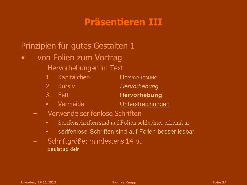 Präsentieren III Prinzipien für gutes Gestalten 1