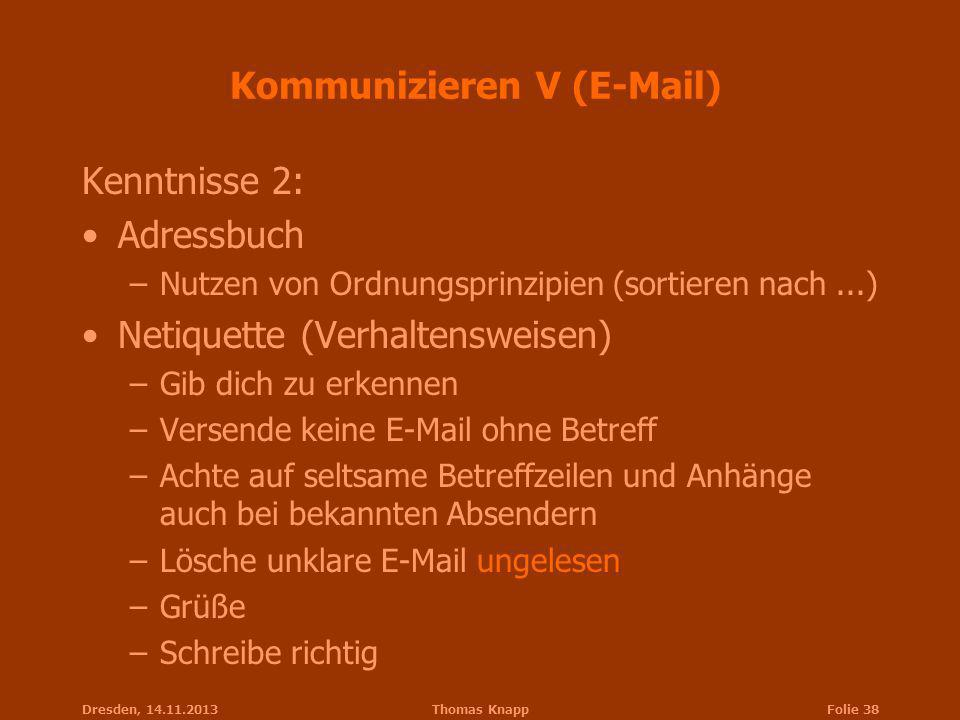 Kommunizieren V (E-Mail)