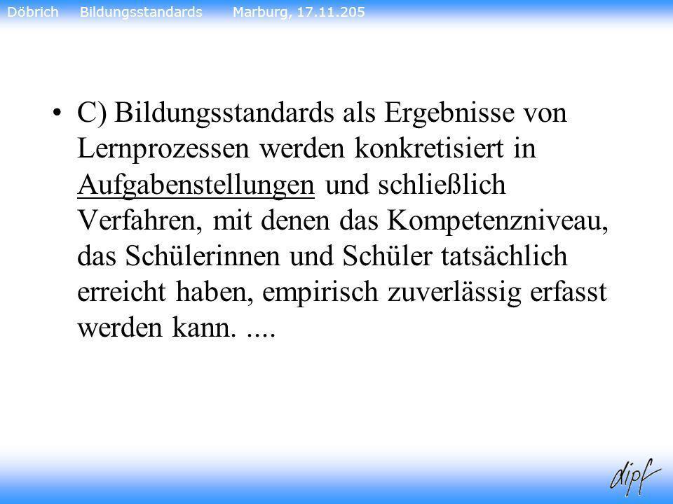Döbrich Bildungsstandards Marburg, 17.11.205