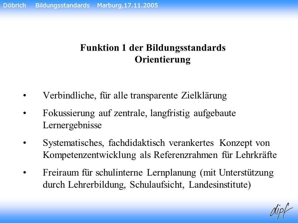 Funktion 1 der Bildungsstandards Orientierung