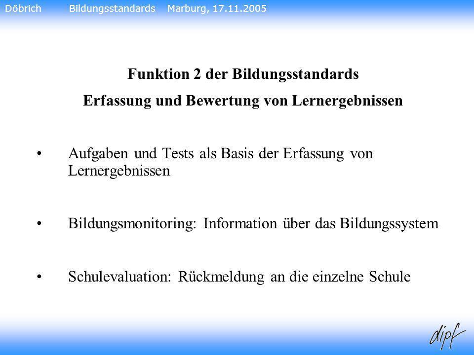 Funktion 2 der Bildungsstandards