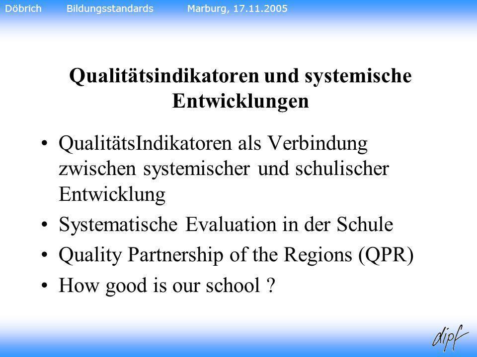 Qualitätsindikatoren und systemische Entwicklungen