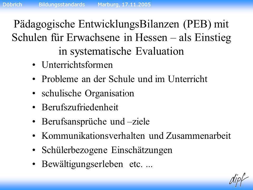 Döbrich Bildungsstandards Marburg, 17.11.2005